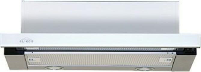 Встраиваемая вытяжка Эликор Интегра GLASS 50 нерж/стекло белое