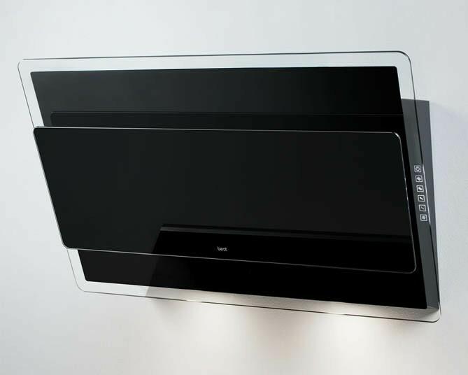 Встраиваемая вытяжка BEST OFFSET 800 мм черная 1000м3/ч
