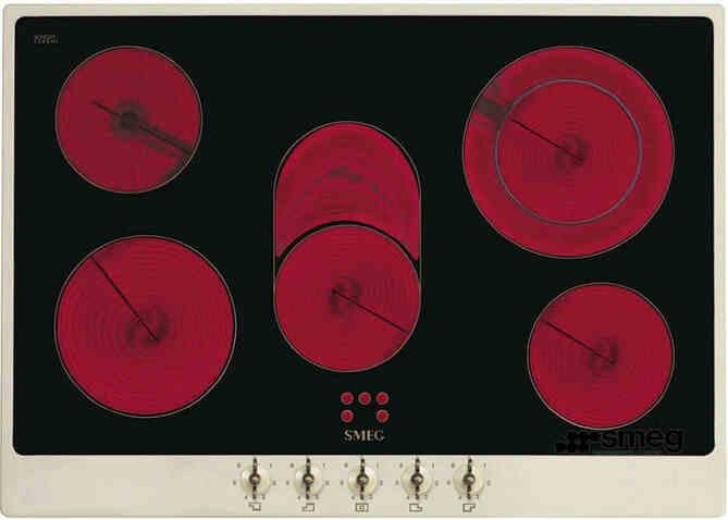 Электрическая варочная панель стеклокерамика SMEG P875P