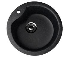 Мойка EcoStone ES-12-308 чёрный d=480мм