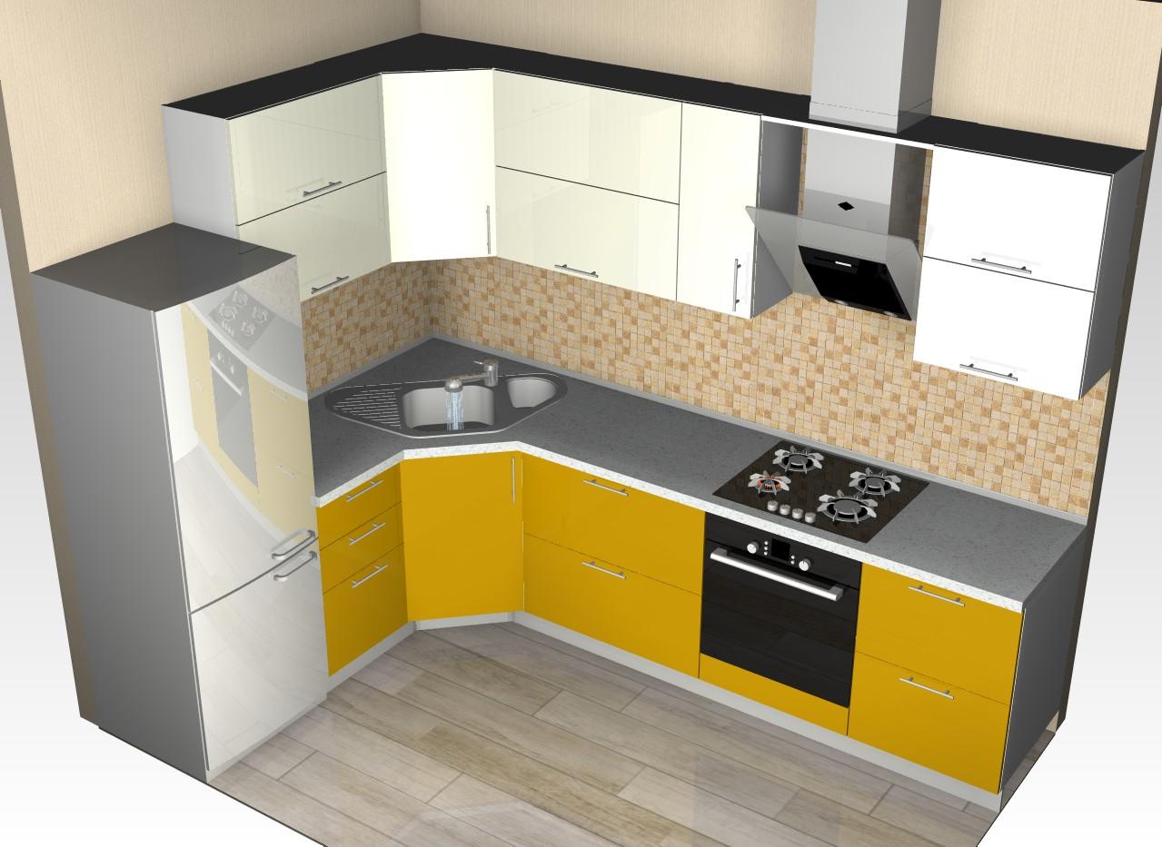 проектирование кухни угловой картинки чтобы